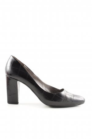 abro Spitz-Pumps schwarz Animalmuster Business-Look