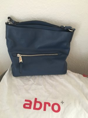Abro Tasche Adria Hobo Bag Leather blau mit Schulterriemen