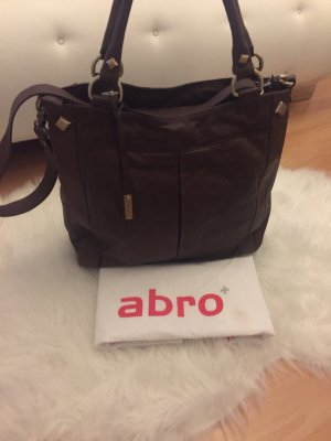 abro Handbag brown red