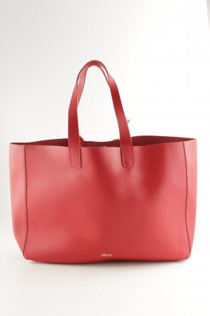 "abro Tote ""Ruga Calf Leather Shopping Bag"" red"