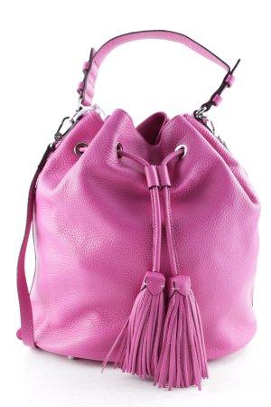 """abro Borsa a spalla """"Adria Bucket Bag Calf Leather Pink"""" rosa"""