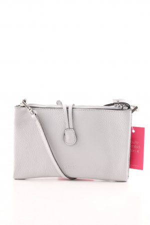 "abro Umhängetasche ""Adria Double Leather Crossbody Bag Logo Light Grey"""