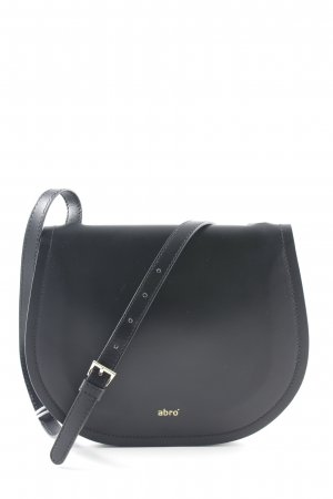 "abro Gekruiste tas ""Calf Carmen Crossbody Bag Black/Red"" zwart"