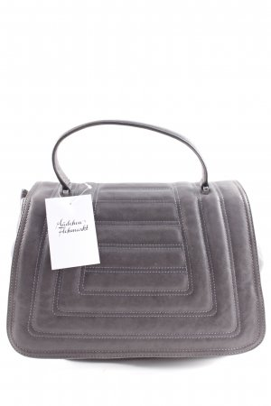 "abro Crossbody bag ""Lamb Leather Quilted Satchel Bag Grey"" grey"