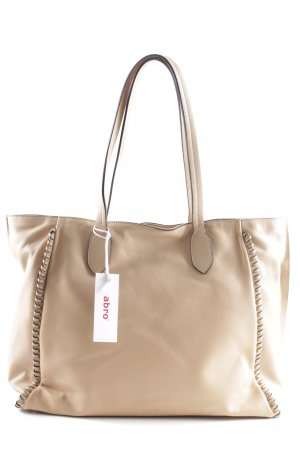 "abro Umhängetasche ""Leather Velvet Shopping Bag Natural"" nude"
