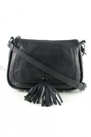 "abro Borsa a spalla ""Velvet Leather Crossbody Bag Black"""