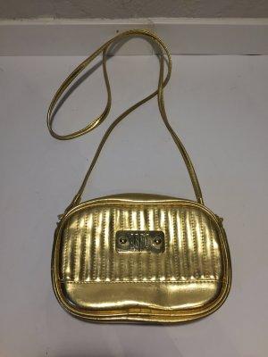 ABRO Vintage-Handtasche goldfarbenes Leder