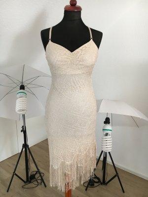 ABS Kleid Great Gatsby nude creme 20er Jahre sexy Abendkleid 34 Xs NP:490€
