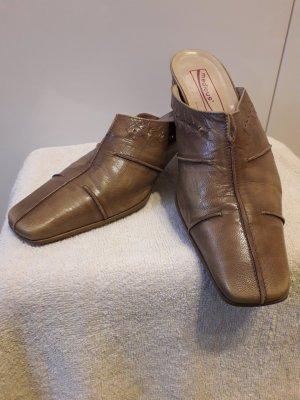 Medicus Heel Pantolettes sand brown-beige leather