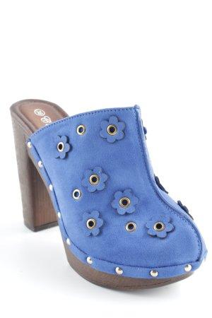 Sandalo con tacco motivo floreale stile stravagante