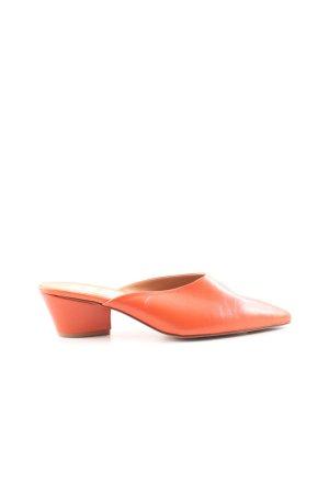 Heel Pantolettes dark orange casual look