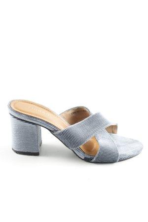 Heel Pantolettes cornflower blue elegant