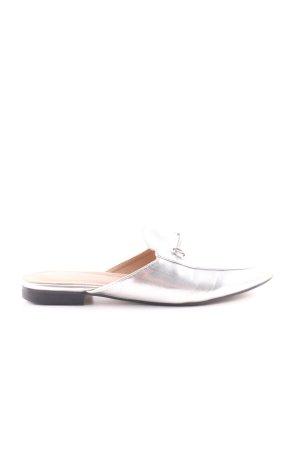 Heel Pantolettes silver-colored elegant