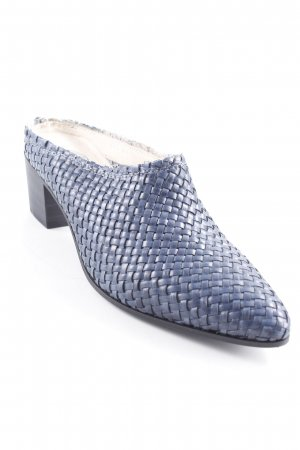 Heel Pantolettes weave pattern extravagant style