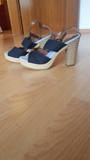 absatz Sandalen blau/ braun