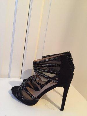 Absatz Sandalette schwarz