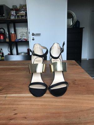 Tally Weijl High Heel Sandal black-gold-colored