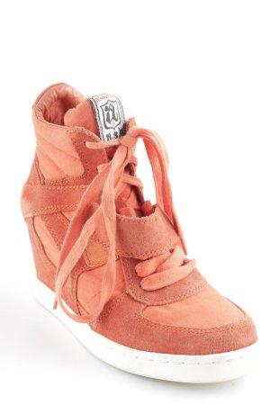 Absatz Sneaker neonorange Casual-Look