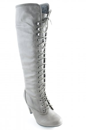 Absatz Stiefel graubraun Casual-Look