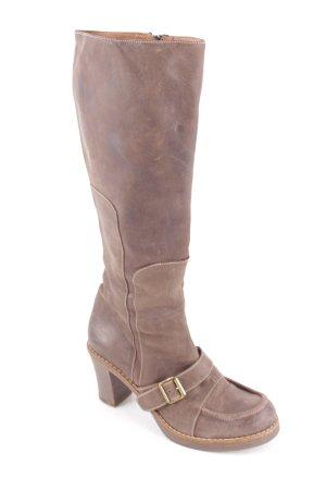 Absatz Stiefel graubraun Elegant