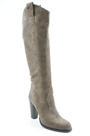 Absatz Stiefel schwarz-graubraun klassischer Stil