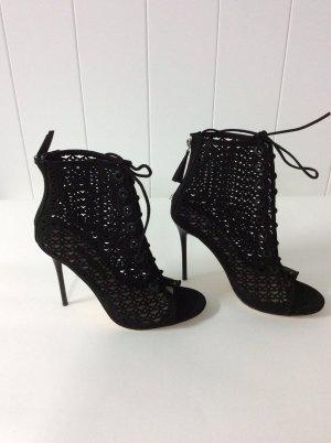 Zara Basic High Heel Sandal black imitation leather