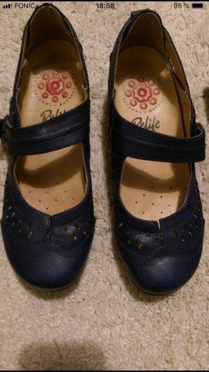 Escarpins Mary Jane bleu foncé-bleu