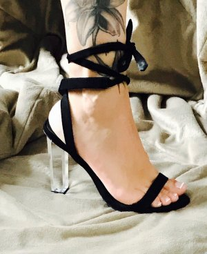 Absatzschuhe Sandaletten mit offenen Zehen