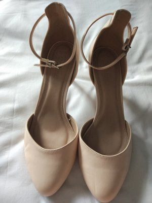 Asos Petite Sandalo con cinturino e tacco alto crema Finta pelle