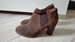 5th Avenue Slip-on Booties cognac-coloured-dark brown leather