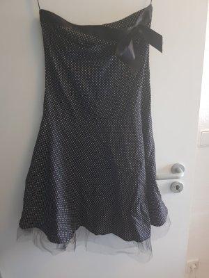 Robe de bal blanc-noir