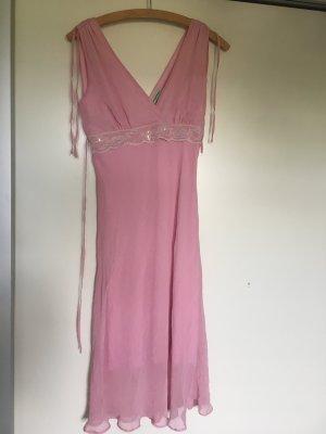 Midi-jurk roze-wit