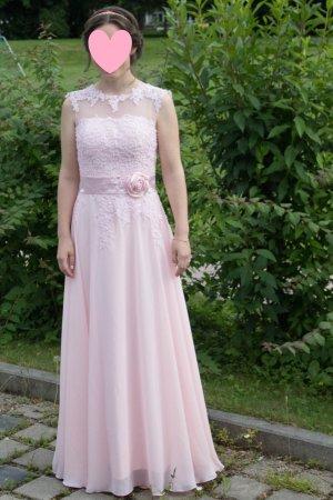 Abschlusskleid/ Brautjungfernkleid mit Spitze in Rosé