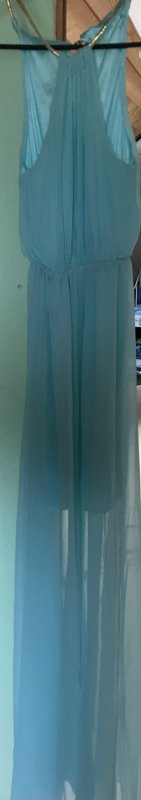 Halter Dress baby blue polyester