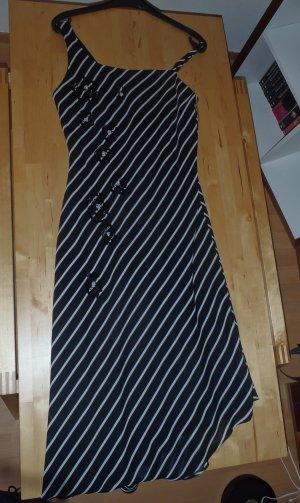 Abschlusskleid, schwarz / weiß gestreift, Größe 38, Preis = verhandelbar