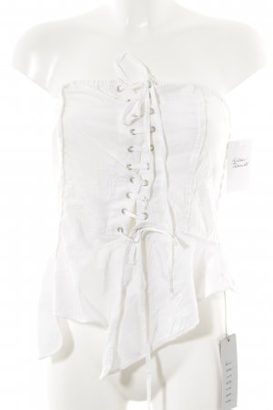 Absolut by Zebra Corsage Top natural white mixed pattern biker look