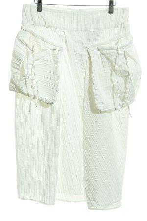 Absolut by Zebra Falda a cuadros blanco puro estampado a rayas