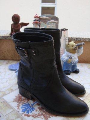 Zara Trafaluc Bottillons noir cuir