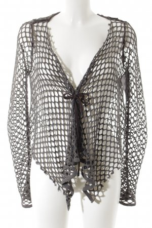 ABSOLUT Knitted Cardigan grey loosely knitted pattern casual look