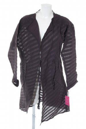ABSOLUT Between-Seasons-Coat dark brown striped pattern extravagant style