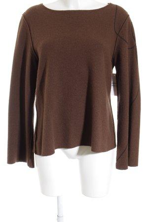 ABSOLUT Wollpullover braun-schwarz klassischer Stil