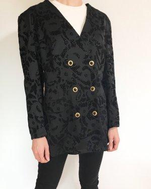 Absoluter Vintagetraum- Jacke mit Samtapplikationen und goldenen Knöpfen