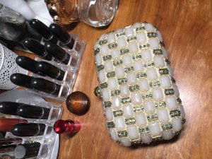 Accessoires Clutch Handtasche Steine edel