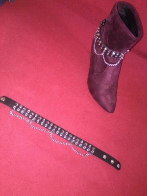 Studded Belt black-silver-colored