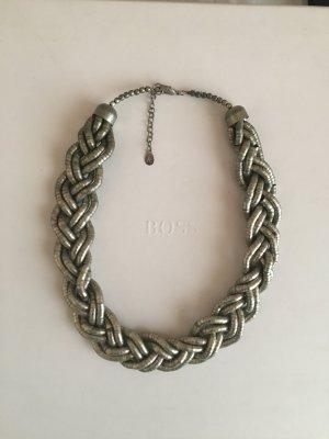 Accessoires Lette Gliederkette silbernerer altsilber Optik edel puristisch xxl Statement Highlight special Halskette kette