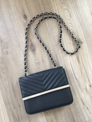 Amisu Crossbody bag black-silver-colored