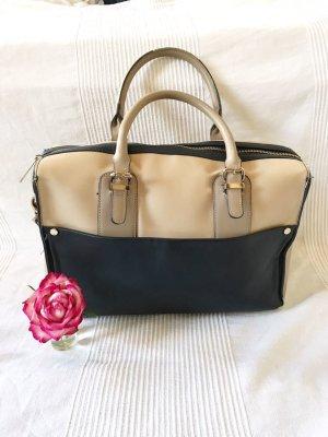 Accessoirizes Handtasche Tasche Shopper blau beige Umhängetasche
