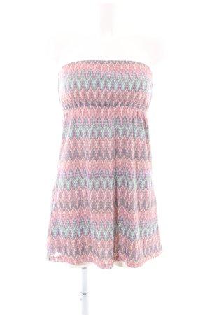 Accessorize Robe bandeau rose-turquoise imprimé allover style extravagant