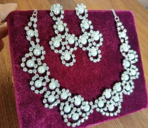 Accessorize Brautschmuck-Set Perlen Strass