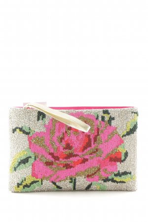 Accessorize Clutch Blumenmuster Schimmer-Optik